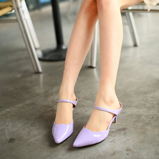 Sexy high-heeled shoes with sandals side hollow patent leather new spring and summer women shoes<br><br>Aliexpress