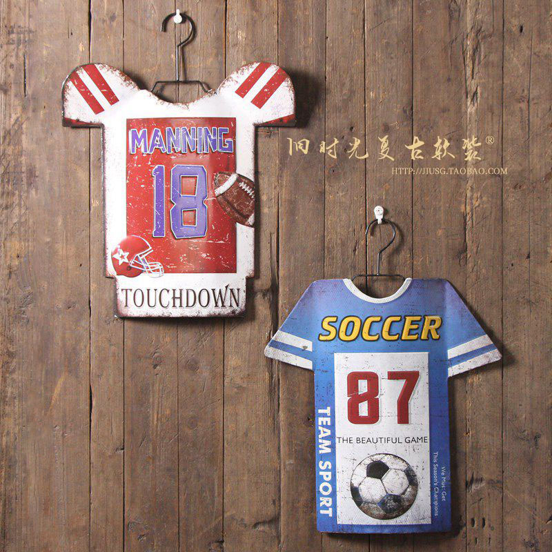 Vintage Jerseys Metal Painting Wrought iron Mural Tin Signs Wall Painting Art Wall Stickers Crafts Cafe Bar Bar Home Decoration(China (Mainland))