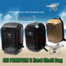 2015 Free Shipping DJI Hard shell Shoulder Backpack Bag for DJI Phantom 3 Carry Case Box RC Quadcopter FPV Camera Drones parts