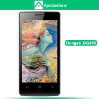"""DOOGEE LATTE DG450 4.5"""" Capacitive Screen MTK6582 Quad Core Phone 1.3GHz Android 4.2 Camera 2.0MP+8.0MP 1GB+4GB GPS 3G Black"""