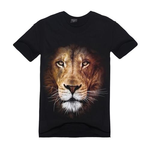 2016 Summer Hot Sale Cool Tiger 3D T Shirt New Fashion 3D Animal Creative T-Shirt Novelty Design Wolf/Bear/Lion Men T Shirts(China (Mainland))