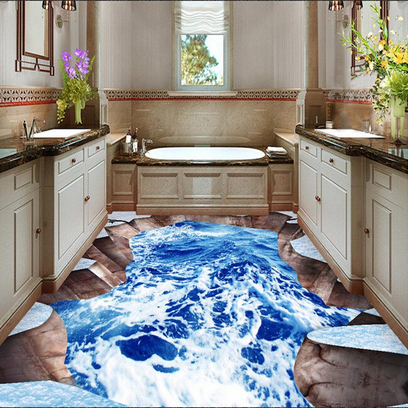 3d ceramic tile bathroom floor 3d outdoor waterfall floor tile floor