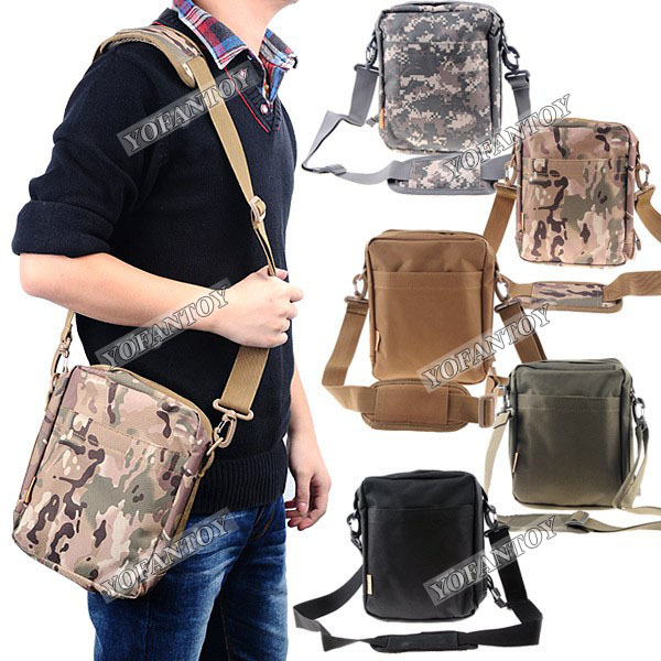Military Shoulder Bag Utility Tactical Bag Small Zipper Messenger Bag Sling Pouch Hiking Camping Outdoor Sports(China (Mainland))