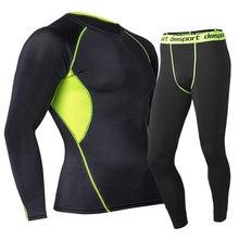 Brand New bielizna termiczna komplety bielizny męskiej kompresyjny polar potu szybkie suszenie thermo Fitnessunderwear męskie zimowe ubrania(China)