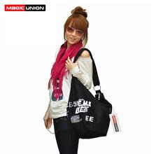 Trasporto libero 2016 NEW fashion Inglese lettera delle donne borse di tela spalla delle donne della signora di alta qualità borsa 4 colori borse(China (Mainland))