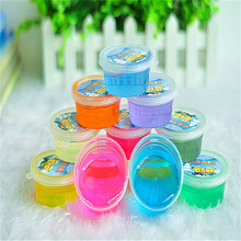 Crystalmud Colors Nontoxic Crystal Mud Plasticine Clay Playdough For Kids Magic Play-doh Children's Crystal Soil Gift Play Doh(China (Mainland))