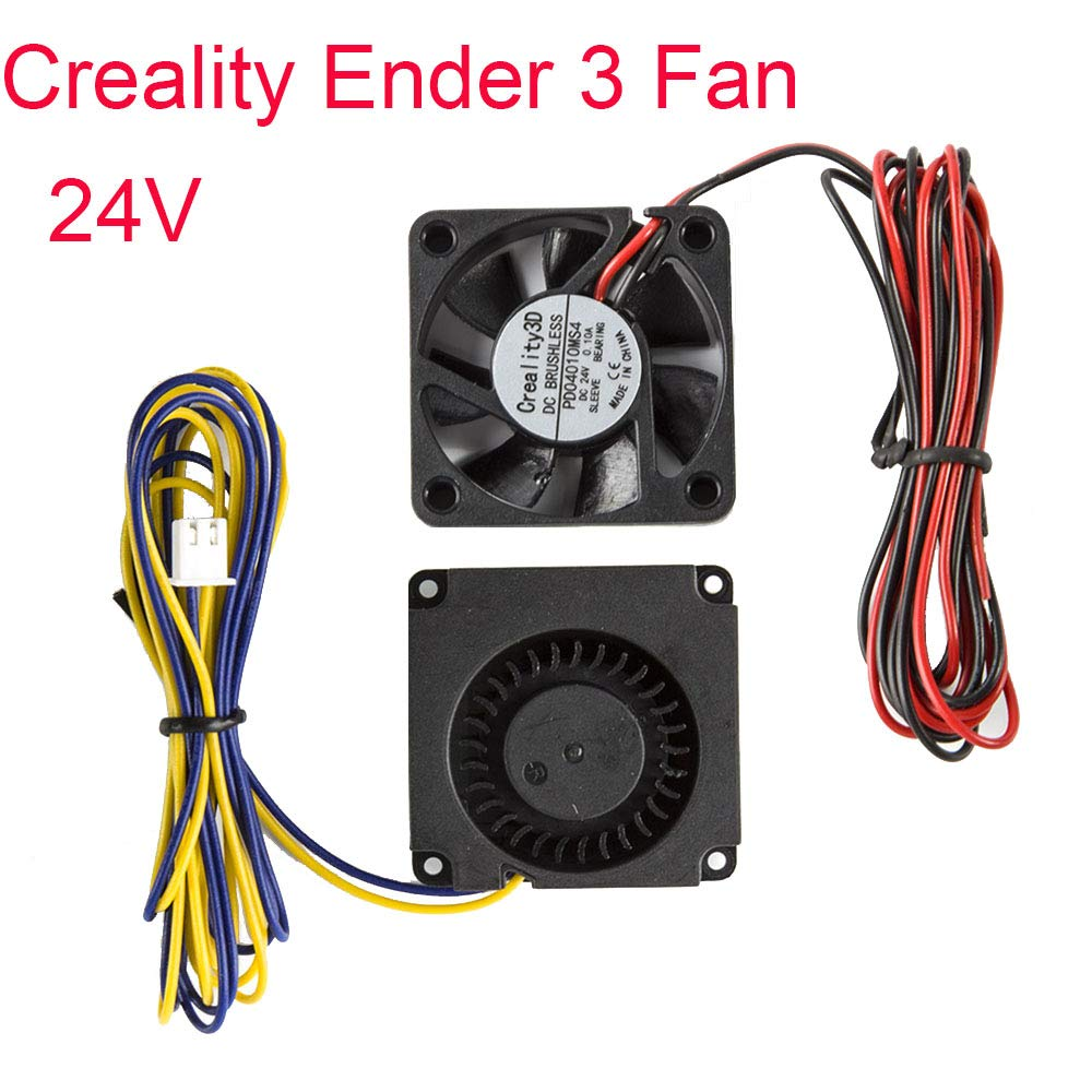 Ender 3 Original 4010 Fans 40x40x10MM DC 24V Extruder Hot End Fan x 2 and DC 24V Turbo Fan x 2 for Ender 3 3D Printer