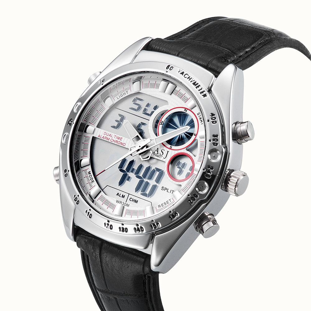 2015 Fashion men Watches men Quartz wristwatch Military Dive 30m Multi-function LCD Display men's clock relogio masculino watch(China (Mainland))