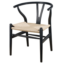 wooden wishbone chair hans wegner y chair solid ash wood dining room furniture luxury dining chair armchair classic design ch177 natural side chair walnut ash