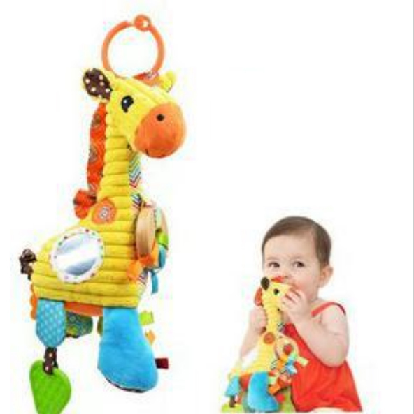 Playgro Toys Little Donkey Mouse Bed Lathe Hanging Rattles Pull Shock Baby Toy 0-12months Free Shipping(China (Mainland))