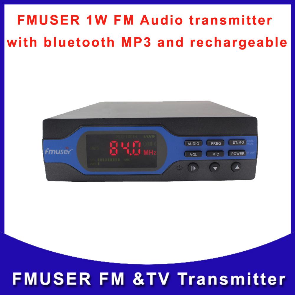 Fmuser FU-X01B 1W FM Radio Wrieless Broadcast Audio Transmitter Bluetooth MP3 Transmitter Rechargeable Free Shipping(China (Mainland))