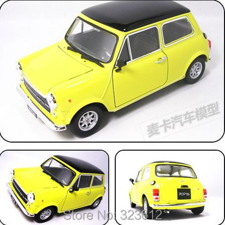 nouveau 1 24 mini cooper 1300 alliage diecast mr bean toy car v hicule mod le collection b1598. Black Bedroom Furniture Sets. Home Design Ideas