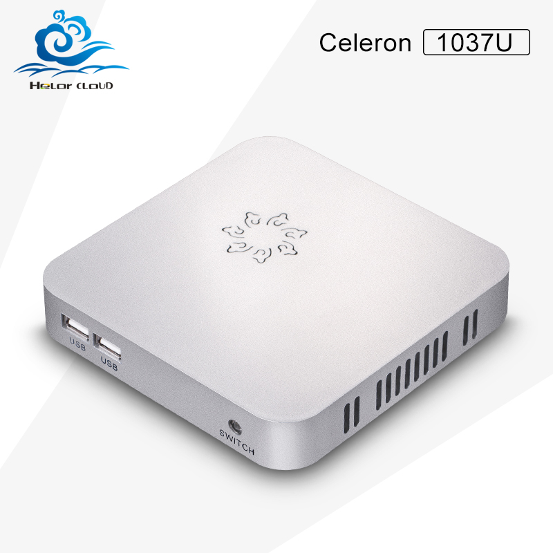 C1037U barebone pc fanless mini computer hdmi support full-screen movies and 2D games cheap price of mini pc thin client(China (Mainland))