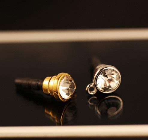 wholesale 100pcs rhinestone cell phone jewelry pendant diy dust plug for diy plug iphone sumsang dust plug free shipping(China (Mainland))