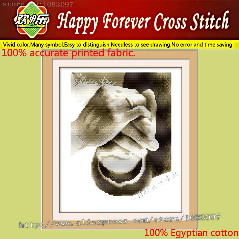 Free Shipping precision printing 100% Egyptian cotton cloth cross stitch Hold your hand picture needlework kits Small size love(China (Mainland))