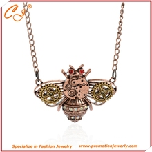 Hit the first act the role ofing is tasted Steampunk sautoir Ancient copper bees gear pendant necklace