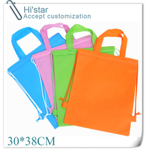 30*38CM 20pcs high quality promotion new arrival eco string non-woven shopping bag for Drawstring Bags Shopping Bags(China (Mainland))