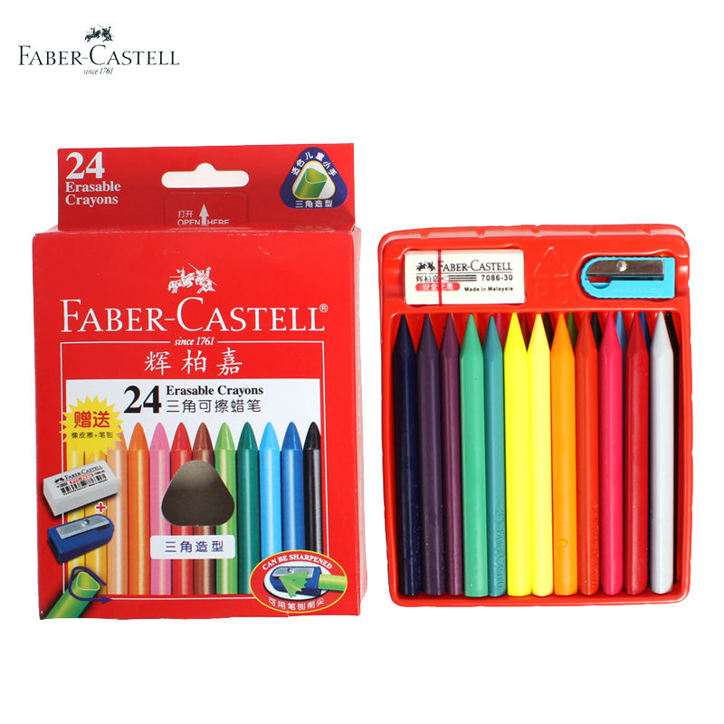 Faber Castell Professional Oil Pastels Set 24Colors/Box Crayon and Oil pastel Children's Gifts Canetinha Pastels Wax Crayons(China (Mainland))