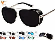 2015 New Style Iron Men Sunglasses Retro Steampunk Sunglasses Men Vintage brand Designer Oculos De Sol masculino gafas