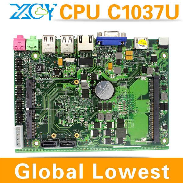 POS MINI ITX Motherboard ,Hd motherboard X-26Y CPU INTEL C1037U Celeron Dual-core 1.8GHz Good quality !!(China (Mainland))