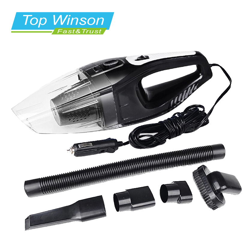 120W Portable Car Vacuum Cleaner Wet And Dry Dual Use Auto Cigarette Lighter Hepa Filter 12V Black(China (Mainland))