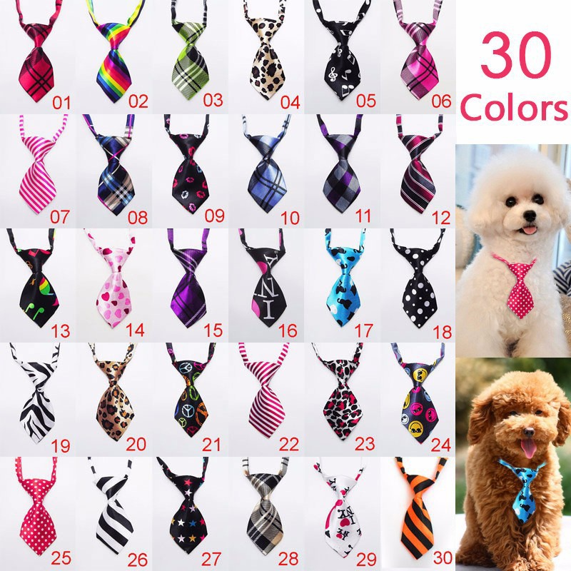 100pc/lot Factory Sale New Colorful Handmade Adjustable Dog Ties Pet Bow Ties Cat Neckties Dog Grooming Supplies P01(China (Mainland))