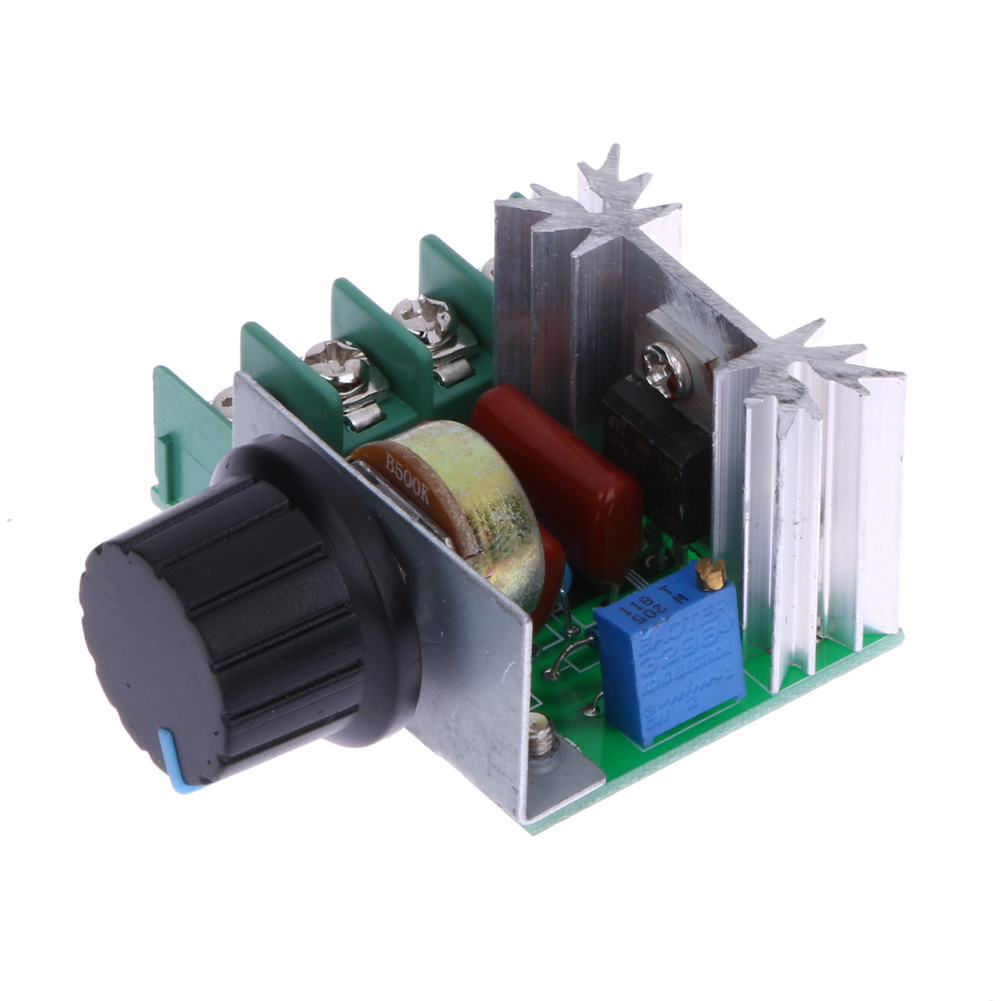 Ac 220v 2000w Scr Electronic Voltage Regulator Module Speed 110v Light Dimmer Circuit With Active Reset Controller Thermostat