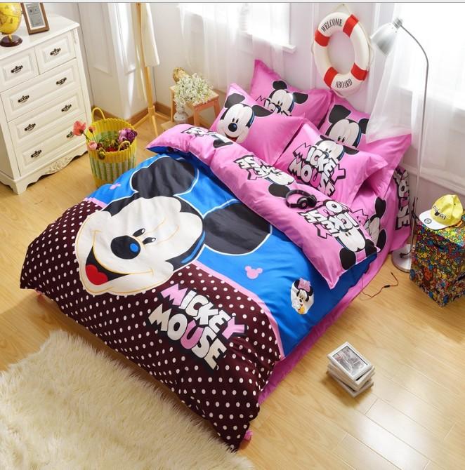 Queen size mickey mouse ropa de cama compra lotes for Sabanas para cama queen size