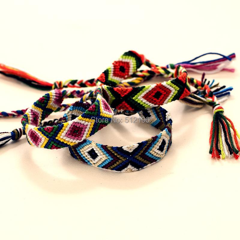 ABL0254(30), 1.5cm Wide Retro Handmade Nepal Geneva Brazilian Multicolor String Cord Woven Braided Friendship Bracelets(China (Mainland))