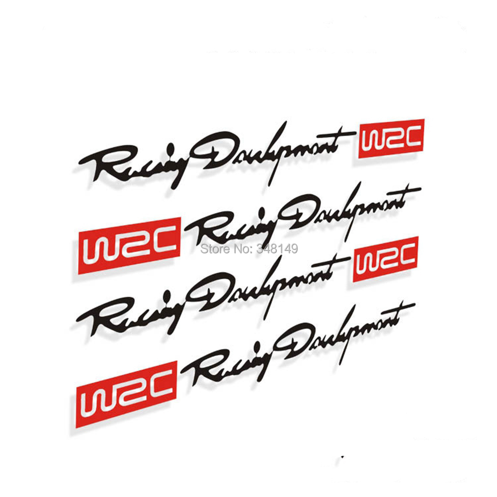 4 x Newest WRC Car Door Handle Stickers and decals Reflective Rally Car Stickers for toyota