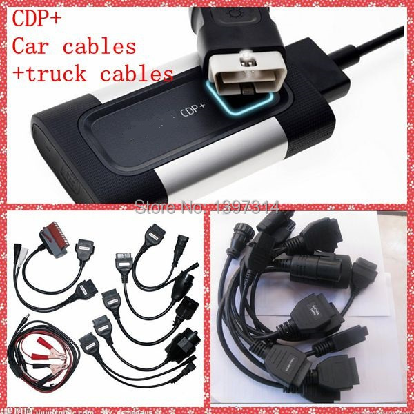 2013.R3 Free Keygen CDP+Car cables+truck cables full set TCS scanner with LED light car multibrand diagnose Scanner fast Ship(China (Mainland))