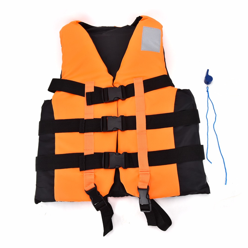 Polyester Adult Life Vest Jacket Universal Swimming Boating Ski Drifting Foam Vest with Whistle Prevention Size S-XXL(China (Mainland))