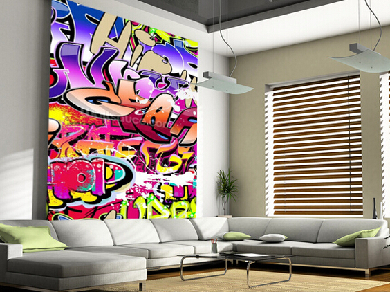 Home interesting graffiti bedroom wallpaper for sale for Bedroom wallpaper sale