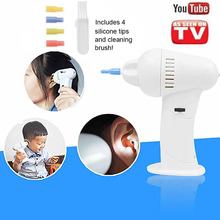 Kids Electric waxvac ear cleaner ear cleaning device dig ear massage vacuum removal kit ear clean System for Baby AS SEEN ON TV(China (Mainland))