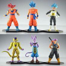 6pcs anime 12-14CM Dragon Ball Z Resurrection F Freeza Super Saiyan Goku Vegeta Trunks PVC Action Figure Collectible kids toys