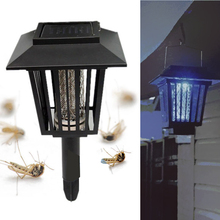 New Outdoor Yard Garden Lawn LED Solar Powered Mosquitoes Insect Pest Bug Killer Repellent Lamp Light (China (Mainland))