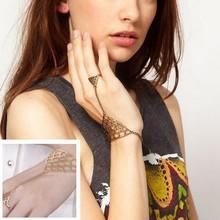 Wholesale 12X Fashion Body Chain Metal Sexy Women Bracelet Wrist with Finger Hand Chain Jewelry Free