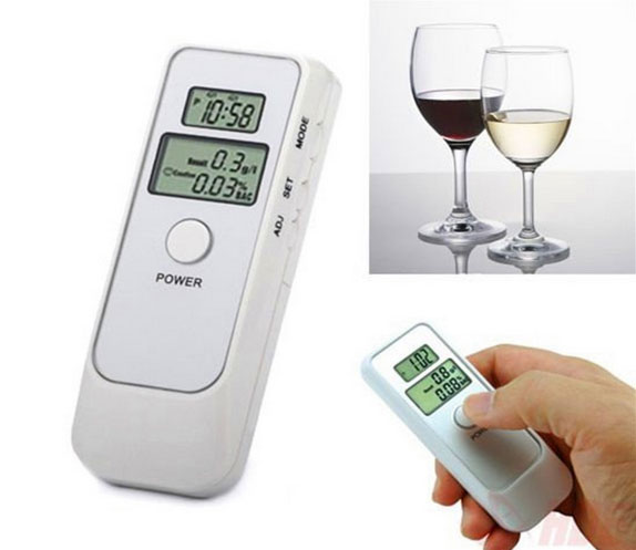 Digital LCD Pocket Alcohol Breath Tester Analyzer Breathalyzer Breathalyser Detector Test Details Portable Alcohol Detector(China (Mainland))
