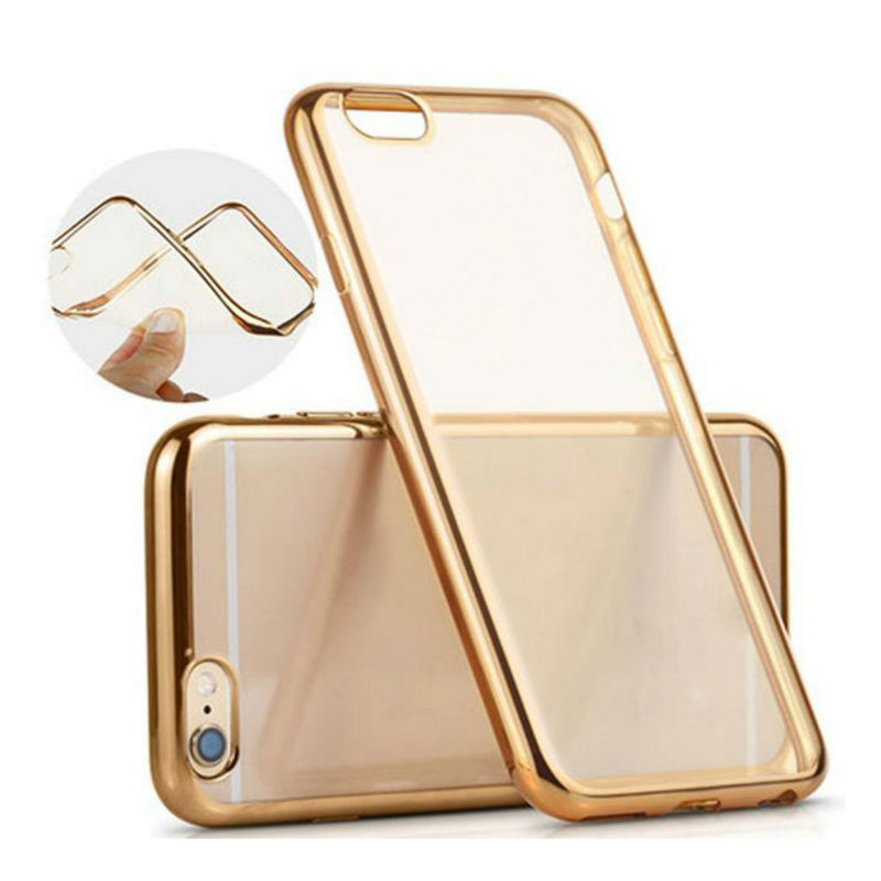 2016 New & Luxury Ultra-thin Clear Crystal Rubber Plating TPU Soft Phone Case Cover for iPhone 5 5s ,6 6S/6 6s plus