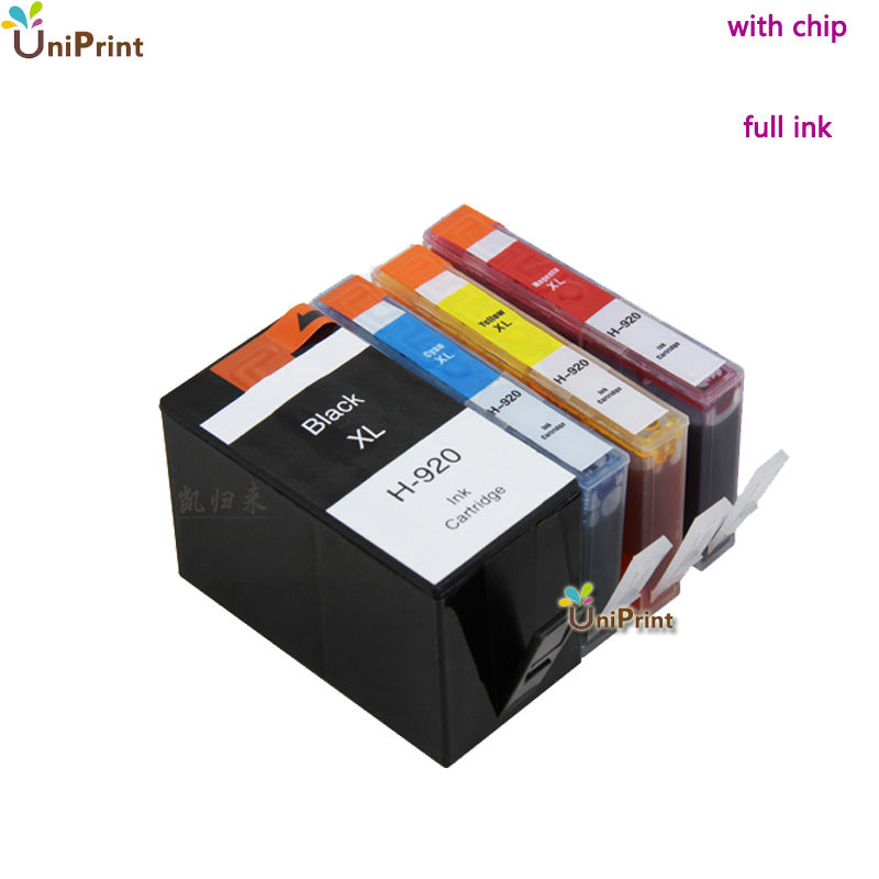 4 x for HP920 XL 920 920XL compatible Ink Cartridge for HP Officejet 6000 /6500/6500 /6500A /7000/7500/7500A printer with chip(China (Mainland))