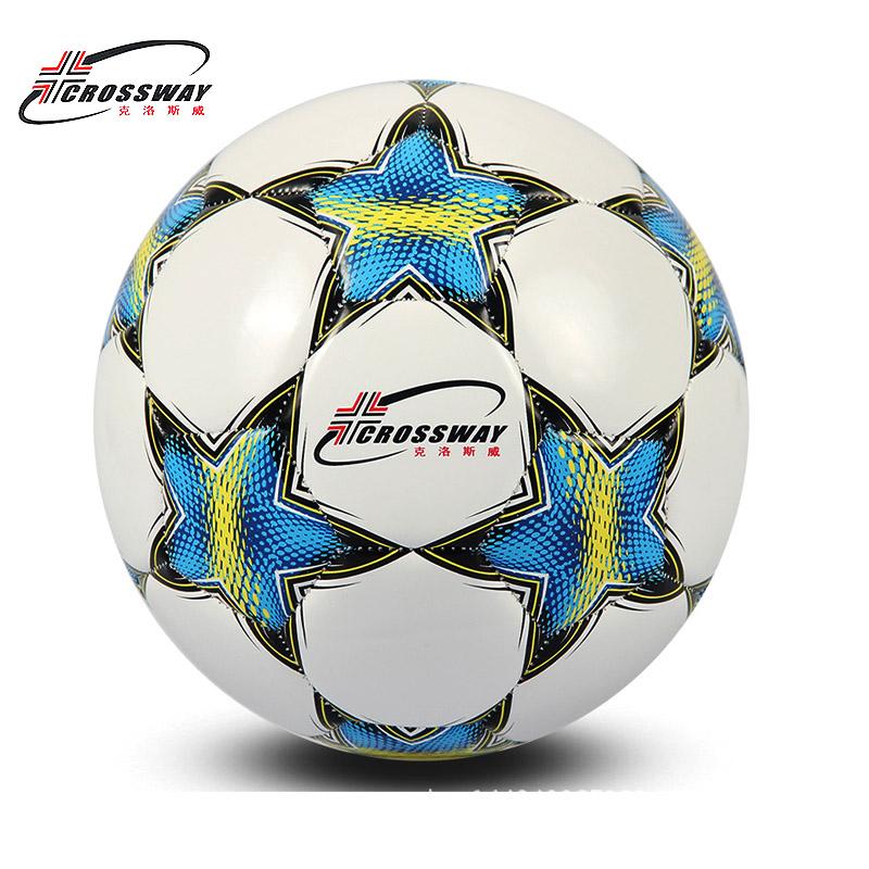 CROSSWAY Brand Football Ball Soccer Ball Size 5 Official Anti-slip PU Slip-Resistant Standard Match Training Champions Football(China (Mainland))