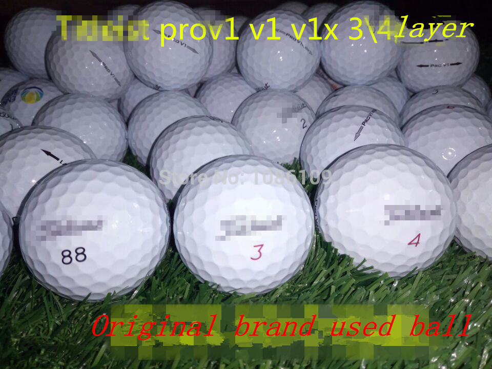 10pcs Original brand used golf balls,brand prov1X prov1 3/4 layer golf balls,FREESHIPPING(China (Mainland))