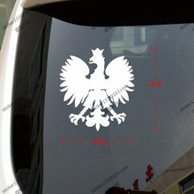 18*16cm Poland White Eagle Polish Coat of Arms of Poland Orzel Bialy Polski Car Decal Sticker, You Choose Your Color!(China (Mainland))