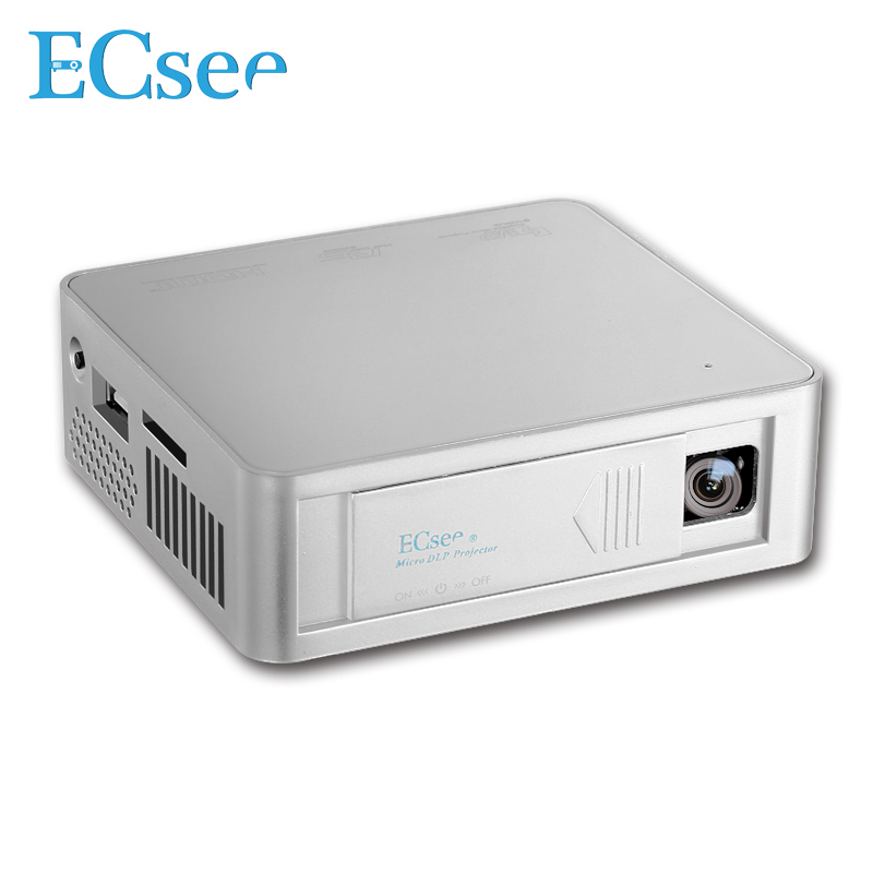 Ecsee es130 854x480 full hd1080p dlp led projector 800 for Usb projector reviews