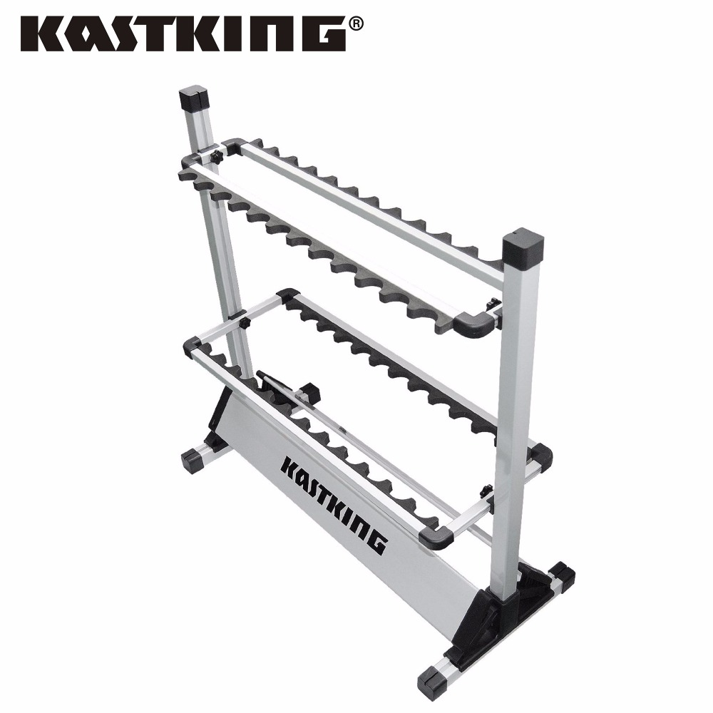 KastKing Brand 2017 Portable Aluminum Fishing Rod Racks with New Package 24 Rod Rack for All Types of Fishing Rods and Combo(China (Mainland))