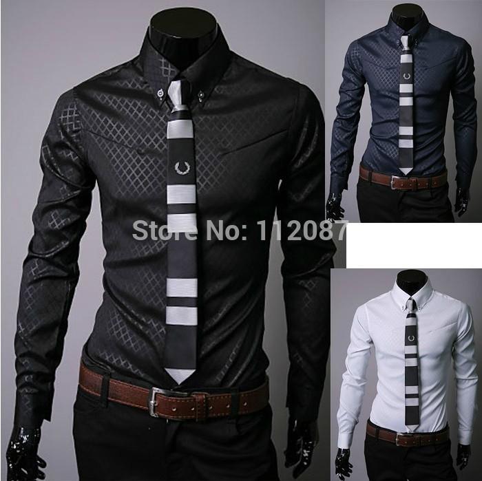 Brand New Moda Mas Camisa Big Plus Size Mens Shirt