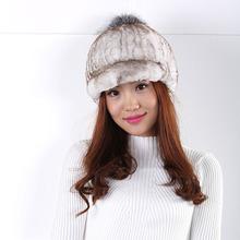 Women Winter fur hat warm fashion wild wool hat Gradient Casual style  Fashion and generous Wild fur pompom Hat  New 2016 Berets