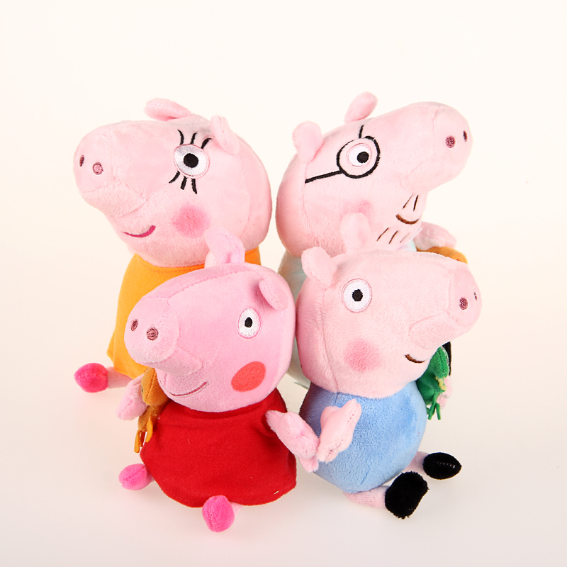PIG FAMILY SET DADDY MUMMY 20CM DAUGHTER SON 18CM(China (Mainland))