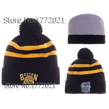 2016 new arrival Boston Bruins Winter Classic Pom Cuffed Beanie Caps Logo Embroidery Hockey Sports Knitted Hat