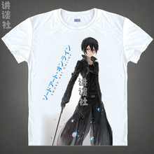 Sword Art Online T-shirts kawaii Japanese Anime tshirt Manga Shirt Cute Cartoon Kirito Kazuto Cosplay shirts 37161946984 tee 157
